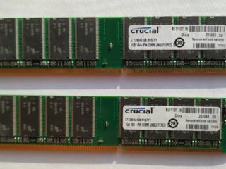 Оперативная память Crucial 1гБ DDR1 (PC3200) для настольного ПК
