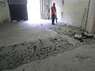 Desfacerea demontarea pardoselilor din beton armat demolarea betonului
