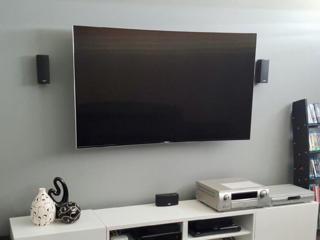 Навеска телевизоров, монтаж кронштейнов для телевизоров. Монтаж полок.