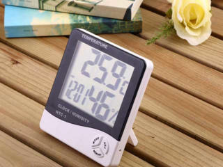 Higrometru cu termometru si ceas/aparat de masurat umiditatea/hidorme