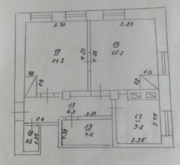 Продаётся 2-комнатная квартира по улице Октябрьская 5