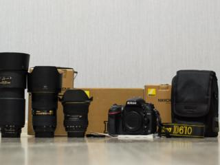 Nikon d610+объективы