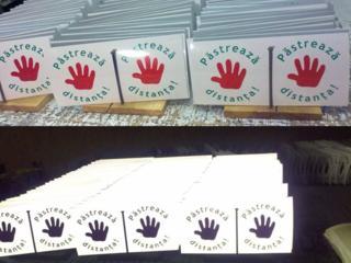 Светоотражающие наклейки (stickere reflectoare)