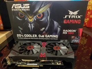 Видеокарта Radeon r9 380 STRIX GAMING OC 4gb