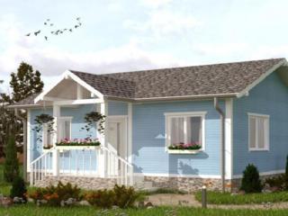 СИП Дом в классическом стиле с террасой, кладовкой, кухней, залом