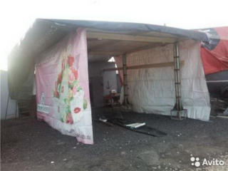 Палатки для торговли, навесы.