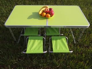 Туристический стол раскладной-трансформер для пикника+4 стула. новый