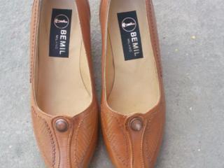 Pantofi din piele noi, încălțăminte din cauciuc, marimea 36-38.