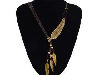 Ожерелье, серьги с кулоном - бренд Италия.