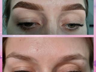 Свадебный и вечерний макияж/ Оформление бровей и окрашивание хной