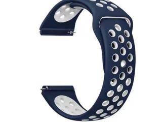 Ремешок для часов Good Prod силиконовый универсальный 22мм Сине-Белый