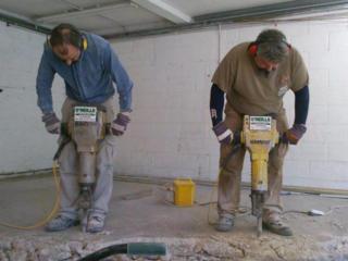 Ремонт полов демонтаж старых бетонных полов алмазная резка технологических швов
