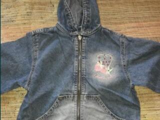 Детская джинсовая ветровка
