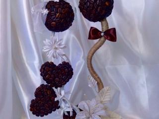 Топиарии, композиции из искусственных цветов, букет невесты, конфетные