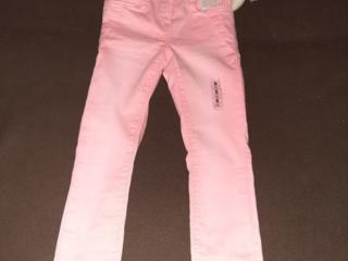 Джинсы модные для девочек 5-6 лет (Германия), 116 см, новые