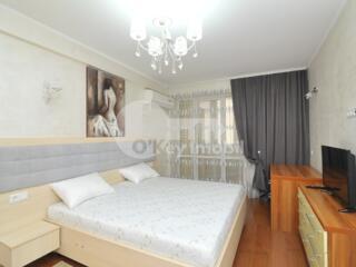 Se oferă spre chirie apartament excelent cu 3 camere în bloc nou ...