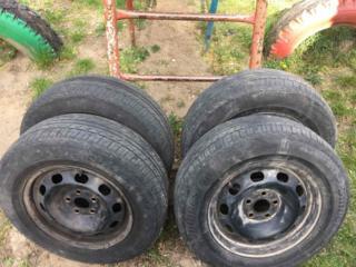 Продам колёса. Металлические диски. R-14, 5х100, с летней резиной.