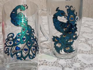 Picturi superbe pe sticlă, handmade