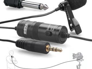 Microfon lavaliera Boya BY-M1 (în stoc) - original 100% / микрофон
