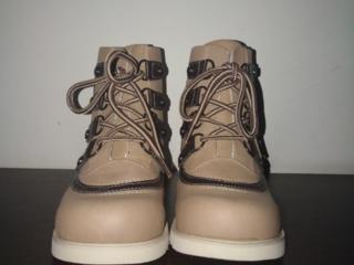 Ботинки кожаные демисезонные ортопедические размер 33