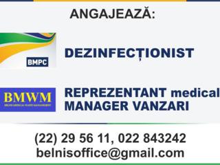 Dezinfecționist! REPREZENTANT medical-MANAGER VANZARI!
