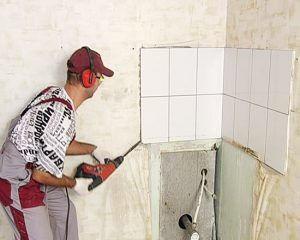 Подготовка к ремонту! Резка бетона перегородок! Очистка стен потолков!