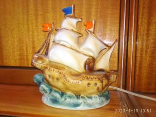 Ночник фарфоровый ''Корабль''