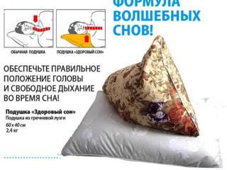 Подушка с наполнителем из лузги гречихи, Здоровый сон 205руб. На заказ