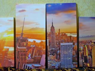 """Продаю арт постеры для интерьера """"Нью-Йорк"""", комплект 4 шт."""
