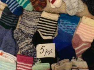 Продаются вязанные носки 2 - 5 рублей новые!!!!!!!!
