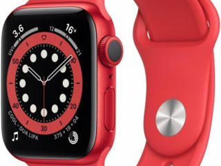 Apple Watch Series 6 GPS 40mm Red Aluminum Case with Red Sport Band /