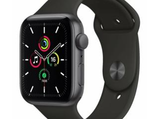 Apple Watch SE 44mm Space Grey Aluminium Case With Black Sport Band /
