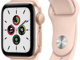 Apple Watch SE 40mm Gold Aluminum Case with Pink Sand Sport Band /