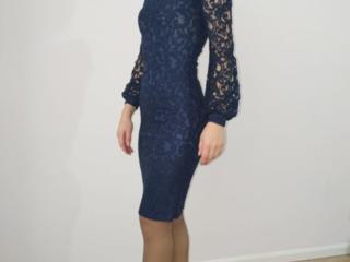 Vând rochie Noua. Material Dantela. Culoare albastru. Mărimea S.