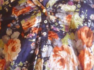 Кофточка рубашка для девочки Reserved с розочками 42-44-S размер