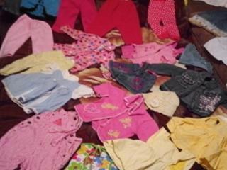 Продам пакетом одежду на девочку до года (150 руб. )
