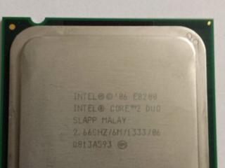 Socket 775. Процессор Intel Core 2 Duo E8200.