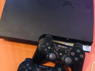 Sony PlayStation 3 Slim + 2 геймпада