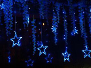 Гирлянд штора Звезда 3*1,5 м