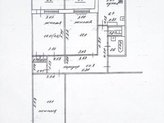 Пентагон, жилая 3-комнатная кв., 4/9 эт., 71 кв. м.