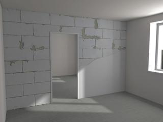 Плитка, выравниваем стены, шпаклёвка, сантехника