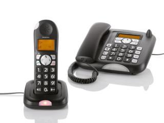 Новый качественный радиотелефон + стационарный телефон
