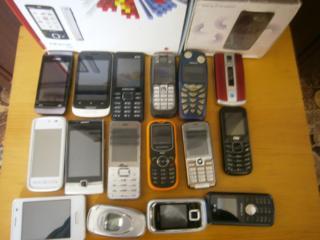 Продам б/у мобильные телефоны от 80 руб и блютузы. Есть и на запчасти.
