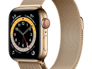 Apple Watch Series 6 GPS + Cellular 40mm Gold Stainless Steel Case wit