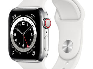 Apple Watch Series 6 GPS 40mm Silver Aluminum Case with White Sport Ba