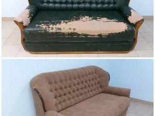 Ремонт мягкой мебели из искожи, ткани. Замена пружин - бруски