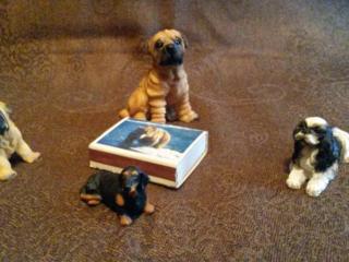 Трогательные миниатюрные собачки д/декора // Бутылка от Риж. бальзама