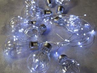 Ретро гирлянда Эдисона(лампочки обычного размера из пластмассы)