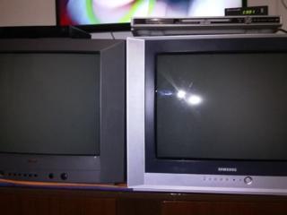 """ТВ Самсунг и DVD плеер """"SKINQ-297"""", с микрофоном."""