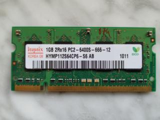 Оперативна память для ноутбука 1gB Hynix SODIMM DDR2-800